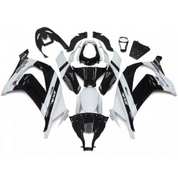 White & Black Motorcycle Fairings For 2011-2015 Kawasaki ZX-10R