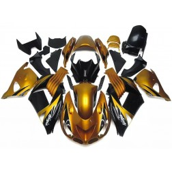 Gold & Black Motorcycle Fairings For Motorcycle Fairings For 2006-2011 Kawasaki ZX-14R