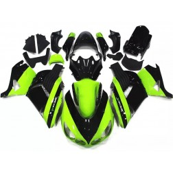 Lemon Green & Black Motorcycle Fairings For Motorcycle Fairings For 2006-2011 Kawasaki ZX-14R