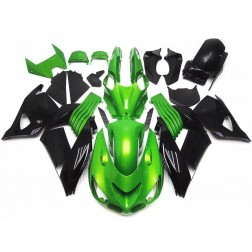 Green & Black Motorcycle Fairings For Motorcycle Fairings For 2006-2011 Kawasaki ZX-14R