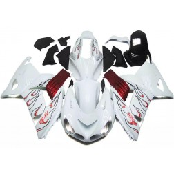 White & Red Motorcycle Fairings For Motorcycle Fairings For 2006-2011 Kawasaki ZX-14R