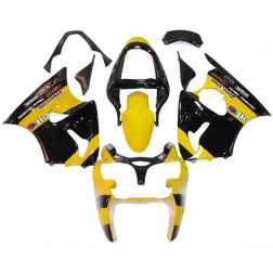 Black & Yellow Motorcycle Fairings For 2000-2002 Kawasaki ZX-6R