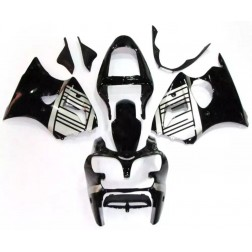 Black & Silver Motorcycle Fairings For 2000-2002 Kawasaki ZX-6R