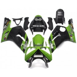 Black & Green Elf Motorcycle Fairings For 2003-2004 Kawasaki ZX-6R