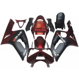 Red & Black Motorcycle Fairings For 2003-2004 Kawasaki ZX-6R