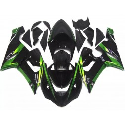 Black & Green Motorcycle Fairings For 2005-2006 Kawasaki ZX-6R