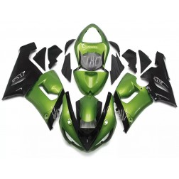 Black & Gloss Green Motorcycle Fairings For 2005-2006 Kawasaki ZX-6R