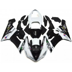 Black & White Elf Motorcycle Fairings For 2005-2006 Kawasaki ZX-6R