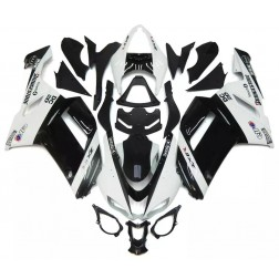 Gloss Black & White Motorcycle Fairings For 2007-2008 Kawasaki ZX-6R