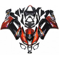 Dark Red & Black Motorcycle Fairings For 2007-2008 Kawasaki ZX-6R