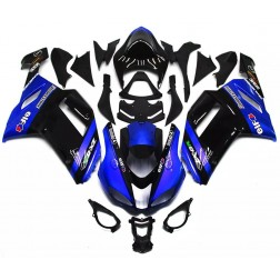Blue & Black Motorcycle Fairings For 2007-2008 Kawasaki ZX-6R