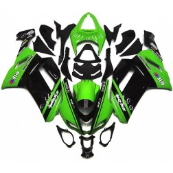 Black & Green Motorcycle Fairings For 2007-2008 Kawasaki ZX-6R