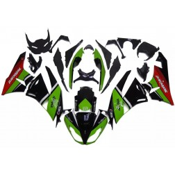 Green, Black & Red Motorcycle Fairings For 2009-2012 Kawasaki ZX-6R
