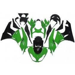 Green & Black Motorcycle Fairings For 2009-2012 Kawasaki ZX-6R
