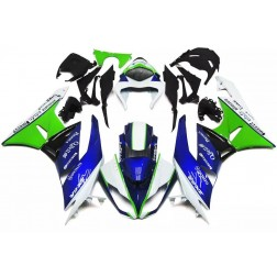 Blue, Green & White Motorcycle Fairings For 2009-2012 Kawasaki ZX-6R