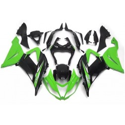 Green & Black Motorcycle Fairings For 2013-2017 Kawasaki ZX-6R