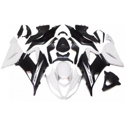 Pearl White & Matte Black Motorcycle Fairings For 2013-2017 Kawasaki ZX-6R