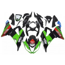 Green, Black & Red Motorcycle Fairings For 2013-2017 Kawasaki ZX-6R
