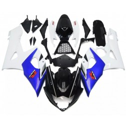 Black, White & Blue Motorcycle Fairings For 2005-2006 Suzuki GSX-R 1000 K5