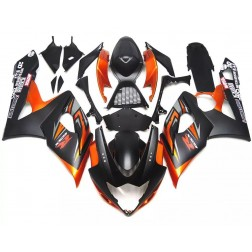 Black & Orange Motorcycle Fairings For 2005-2006 Suzuki GSX-R 1000 K5