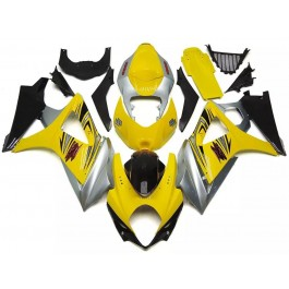 Yellow & Silver Motorcycle Fairings For 2007-2...