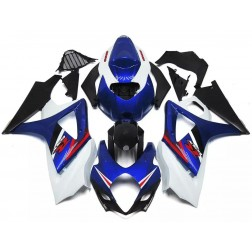Blue, Black & White Motorcycle Fairings For 2007-2008 Suzuki GSX-R 1000 K7