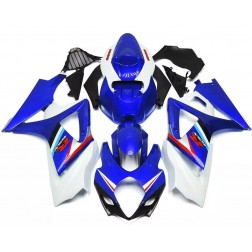Blue & White Motorcycle Fairings For 2007-2008 Suzuki GSX-R 1000 K7