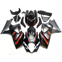Black, Gray & Orange Motorcycle Fairings For 2007-2008 Suzuki GSX-R 1000 K7