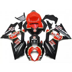 Black & Red Lucky Strike Motorcycle Fairings For 2007-2008 Suzuki GSX-R 1000 K7