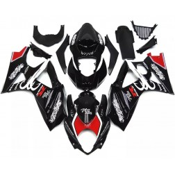 Black & Red Motorcycle Fairings For 2007-2008 Suzuki GSX-R 1000 K7