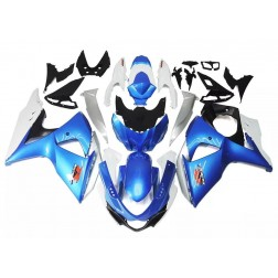 Blue & White Motorcycle Fairings For 2009-2016 Suzuki GSX-R 1000 K9