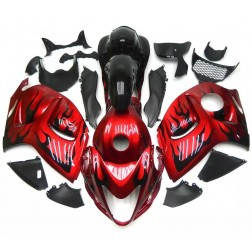 Red & Black Flames Motorcycle Fairings For 2008-2014 Suzuki GSX1300R Hayabusa