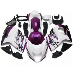 Purple & White Motorcycle Fairings For 2008-2014 Suzuki GSX1300R Hayabusa