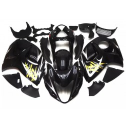Gloss Black & Yellow Motorcycle Fairings For 2008-2014 Suzuki GSX1300R Hayabusa