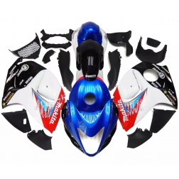 Blue, White & Black Motorcycle Fairings For 2008-2014 Suzuki GSX1300R Hayabusa