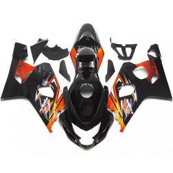 Black & Orange Motorcycle Fairings For 2004-2005 Suzuki GSX-R 600/750 K4