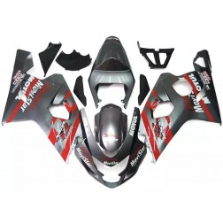 Gray & Red Motorcycle Fairings For 2004-2005 Suzuki GSX-R 600/750 K4