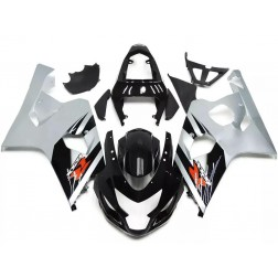 Black & Silver Motorcycle Fairings For 2004-2005 Suzuki GSX-R 600/750 K4