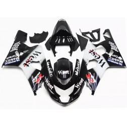 Black West Motorcycle Fairings For 2004-2005 Suzuki GSX-R 600/750 K4