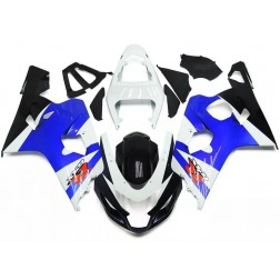 Black, Blue & White Motorcycle Fairings For 2004-2005 Suzuki GSX-R 600/750 K4