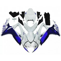 White & Blue Motorcycle Fairings For 2006-2007 Suzuki GSX-R 600/750 K6