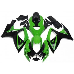 Green & Black Motorcycle Fairings For 2006-2007 Suzuki GSX-R 600/750 K6