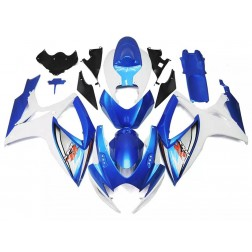 Blue & White Motorcycle Fairings For 2006-2007 Suzuki GSX-R 600/750 K6