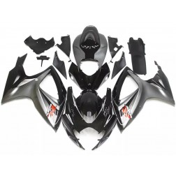 Gray & Black Motorcycle Fairings For 2006-2007 Suzuki GSX-R 600/750 K6