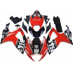 Red & Black Motorcycle Fairings For 2006-2007 Suzuki GSX-R 600/750 K6