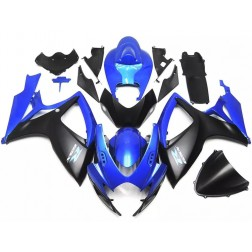 Black & Blue Motorcycle Fairings For 2006-2007 Suzuki GSX-R 600/750 K6