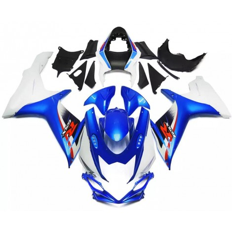Blue & White Motorcycle Fairings For 2011-2016 Suzuki GSX-R 600/750 L1
