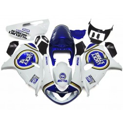 White & Blue Lucky Strike Motorcycle Fairings For 1998-2002 Suzuki TL1000R