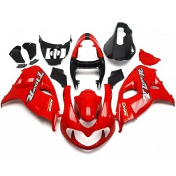 Red & Black Motorcycle Fairings For 1998-2002 Suzuki TL1000R