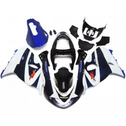 White & Dark Blue Motorcycle Fairings For 1998-2002 Suzuki TL1000R